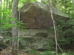 Large rock on the property
