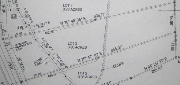 Survey of Falcon Crest Tract 3 Land